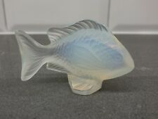 Lalique Crystal Damsel Fish Sculpture – Opalescent Clear, Excellent Condition