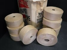 """9 ROLLS CENTRAL  3""""X6' NATURAL PAPER TAPE 160 GRADE T1"""