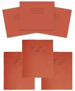 RHINO School Infant Exercise Books Wide 15mm Ruled Lined Red page home schooling