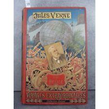 Hetzel Jules Verne l'ile à Hélice cartonnage portrait collé, dos au phare. Voyag