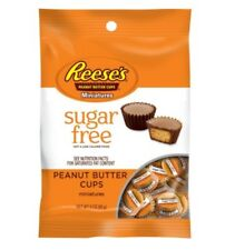 Reese's Sugar Free Miniature Peanut Butter Cup Chocolate Candy Travel In Wrapped