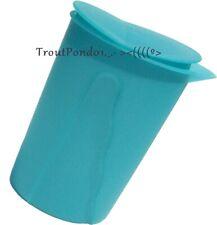 Tupperware Pitcher 1 Quart Impressions Rocker Top Slim Line Jug Blue New