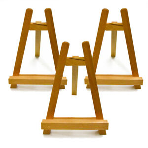 GRIZEDALE Wooden A-Frame A4 Table Easel for Display, Signs, Prints SET OF 3