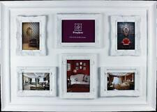 White Multi Frame French Provincial Photo Frame  (6 photos)