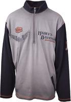 Harley-Davidson Men's Grey L/S 1/3 Zip Pullover Crew Neck (Retail $90)