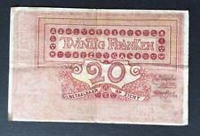 Belgique -  Joli  Billet  de 20 Francs du 20-01-1919