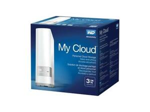 New WD 3TB My Cloud Personal Network Attached Storage NAS WDBCTL0030HWT-NESN
