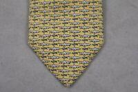 Vineyard Vines Necktie Pure Silk Yellow Shark Novelty American Tie