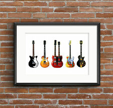 Jimmy Page's Guitars - POSTER PRINT A1 size