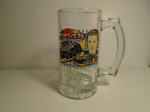 #2 NASCAR Rusty Wallace Miller Brewing Co Penske Racing Heavy Glass Beer Mug