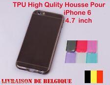 COQUE HOUSSE ETUI POUR IPHONE 6 4.7'' SILICONE GEL TPU TRANSPARENT Noir