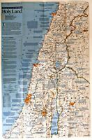 ⫸ 1989-12 Holy Land Special Places - National Geographic Map Poster School