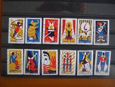 Série complète Le cirque 2017, 12 timbres