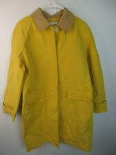 Isaac Mizrahi Yellow Tan Collar Button Down Raincoat NWT Free Shipping!