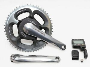 SRM PC7 Shimano Dura Ace FC-7800 Single Side Power Meter Crankset 177.5mm 54/42T
