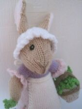 HAND KNITTED EASTER BUNNY. 12 INCHES TALL. DISPLAY? LETTUCE BOROUGH
