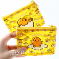 Gudetama Lazy Egg PVC Zipper Pouch Money Coin Purse