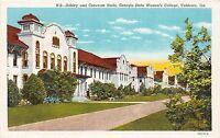 Georgia Ga Postcard Linen VALDOSTA Ashley Converse Halls State Women's College