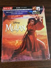 DISNEY MULAN LIVE ACTION 4K HD BLU RAY + DIGITAL SLIPCOVER TARGET EXCLUSIVE BOOK