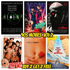90s Movie Posters Vol 2 A3 - Classic Vintage Wall Art Pub Bar Shop Cinema Decor