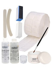 Kit acrilico de inicio nded - porcelana - monomero, liquido acrilico, pincel....