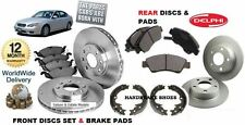 FOR SUBARU LEGACY 2.5 03-2009 FRONT & REAR DISCS SET & DISC PAD HAND BRAKE SHOES