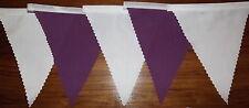 BIANCO & Cadbury Viola in Tessuto Bunting Matrimonio Decorazione 6.8mt compra 3 paghi 2