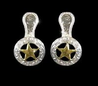 Western Cowgirl Jewelry Bright Silver/Gold ~Star~ Concho Post Earrings Kit