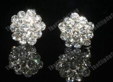 CLIP ON rhinestone SPARKLY DIAMANTE crystal EARRINGS