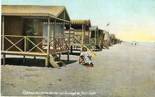 AK ägytpten cabines de bains de mer sur la Plage Port Said a_531