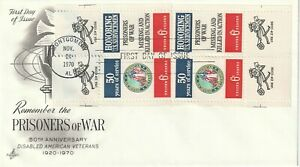 1970 USA FDC cover 50th Anniversary Disabled American Veterans