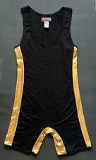 Go Softwear Hard Core Golden Wrestling Singlet (Black/Gold) Size Large