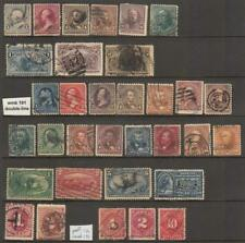 US 1890s Collection 32 diff used stamps cv $158