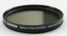 Tiffen - 58mm Polarizer Lens Filter - Fair Glass - Used - W138