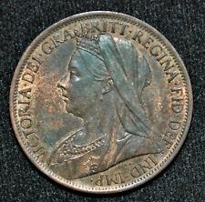 1901 Great Britain Penny AU-50
