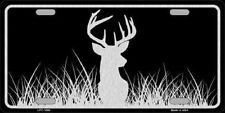 DEER BRUSHED ALUMINUM ART METAL NOVELTY LICENSE PLATE TAG