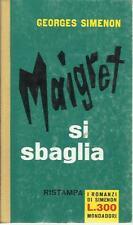 Georges Simenon - Maigret si sbaglia - Mondadori I romanzi di Simenon 1961