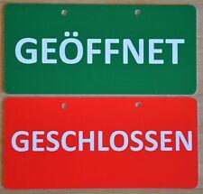 Wende / Türschild: Geöffnet/Geschlossen, Saugnäpfe Fensterschild, runde Ecken