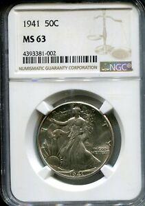 1941 US Liberty Walking Half Dollar- NGC MS63