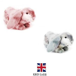 30cm Rabbit Soft Toy Lop Ear Bunny Plush Cute Fluffy Cuddly Rabbit Teddy Kids UK