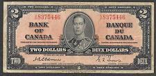 Canada Paper Money - WWII Era 2 Dollar Note - 1937 - Osbourne - FINE