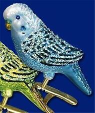 BLUE CLIP-ON MINI PARAKEET OLD WORLD CHRISTMAS GLASS BIRD ORNAMENT NWT 18049
