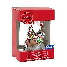 Hallmark Sloth Candy Cane Christmas Tree Ornament New