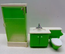 VINTAGE Fisher Price DOLL HOUSE DECORATOR BATHROOM WITH SHOWER STALL