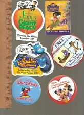 Collector buttons - Disney Movie Video - lot of 11