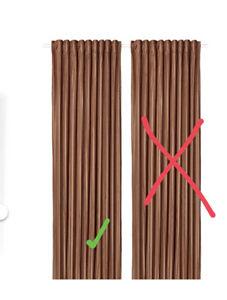 "IKEA ELDTORN Room darkening curtain 1  Panel brown 57x98 "" Clay 504.881.02 Boho"