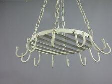 pendentif de cuisine baldaquin crochet Bacon fer 40cm couronne style campagnard