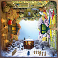 "Jigsaw Puzzles 1000 Pieces ""The Four Seasons Garden"" / Schmidt / Jacek Yerka"