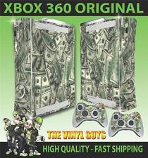 XBOX 360 STICKER DOLLAR BILLS CASH MONEY BENJAMINS SKIN & 2 PAD SKINS