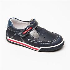 Chaussures en cuir bleu marine et blanc - T. 31
